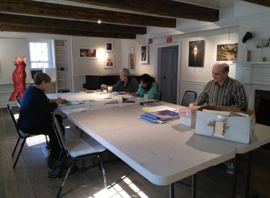 Watercolor class taught by Doug Schiller.