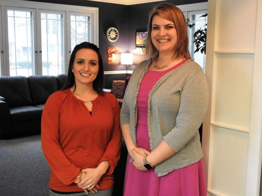 Ashley Davis and Leslie Ridenbaurg are therapists at the newly opened Ohio Family Counseling and Consultation. The firm sees adults and children and offers group, family and individual counseling along with telebehavioral health for those unable to come into office.