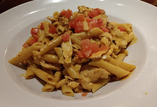 Chicken pasta at Firebirds Wood Fired Grill in West Des Moines.