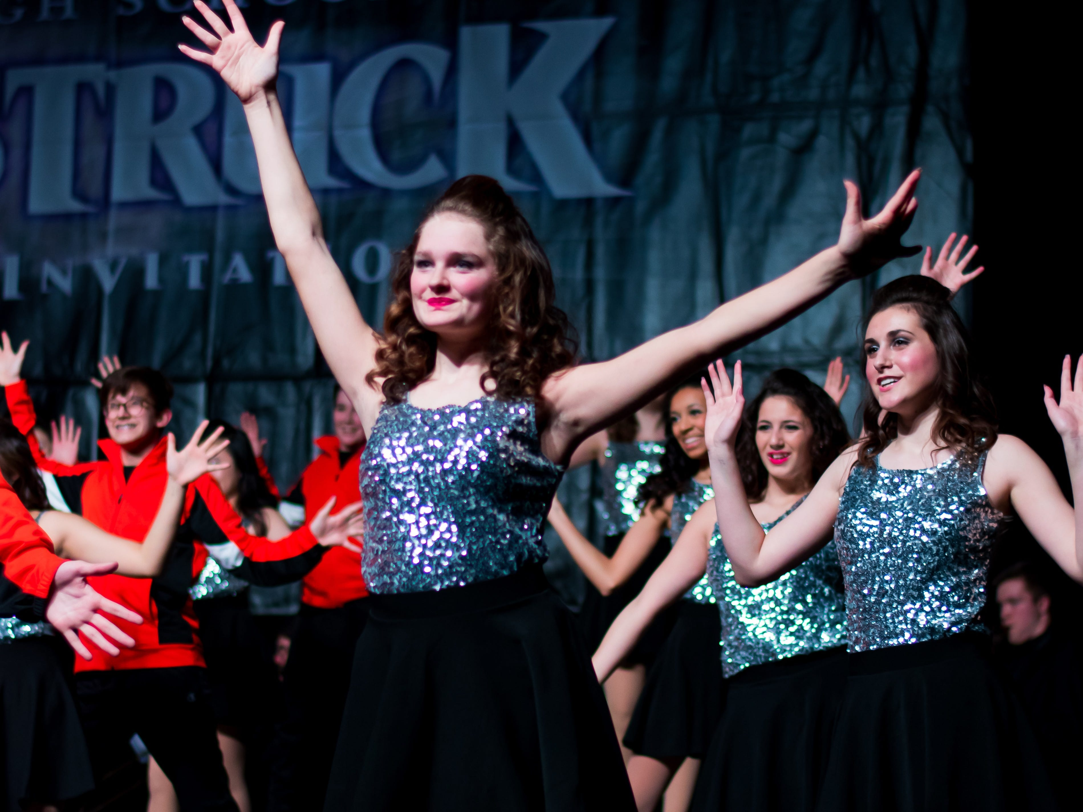 Valley High show choir group Ignition performs on Saturday, Jan. 12, 2019 at the Waukee Star Struck Show Choir Invitational in the Waukee High School Field House.