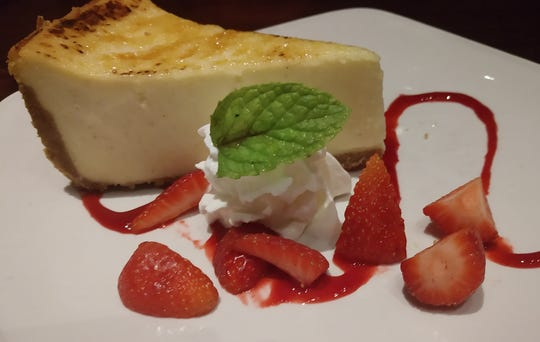 Creme brulee cheesecake at Firebirds Wood Fired Grill in West Des Moines.