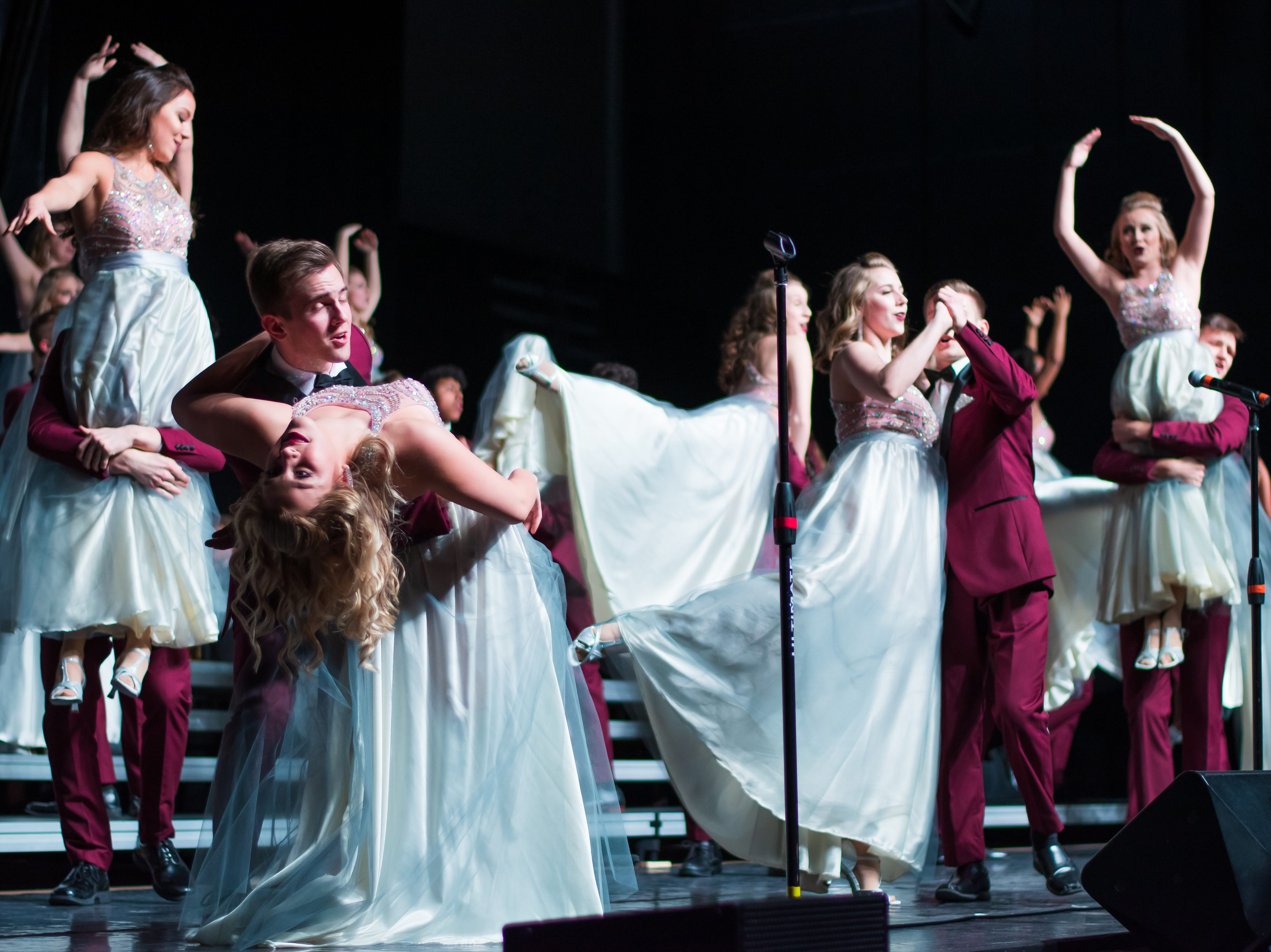 Valley High show choir group Choralation performs on Saturday, Jan. 12, 2019 at the Waukee Star Struck Show Choir Invitational in the Waukee High School Field House.