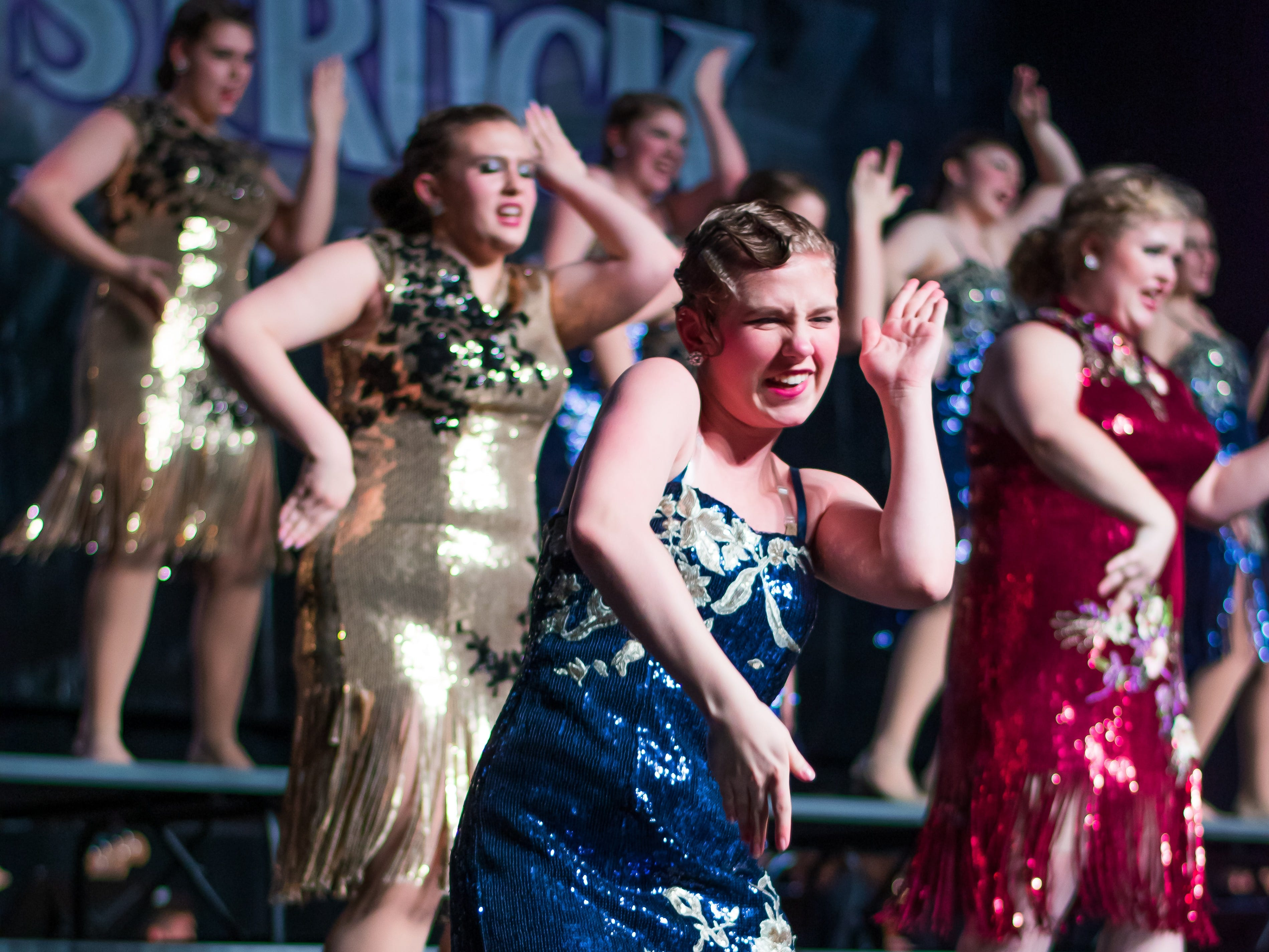 Southeast Polk High group RAMification performs on Saturday, Jan. 12, 2019 at the Waukee Star Struck Show Choir Invitational in the Waukee High School Field House.