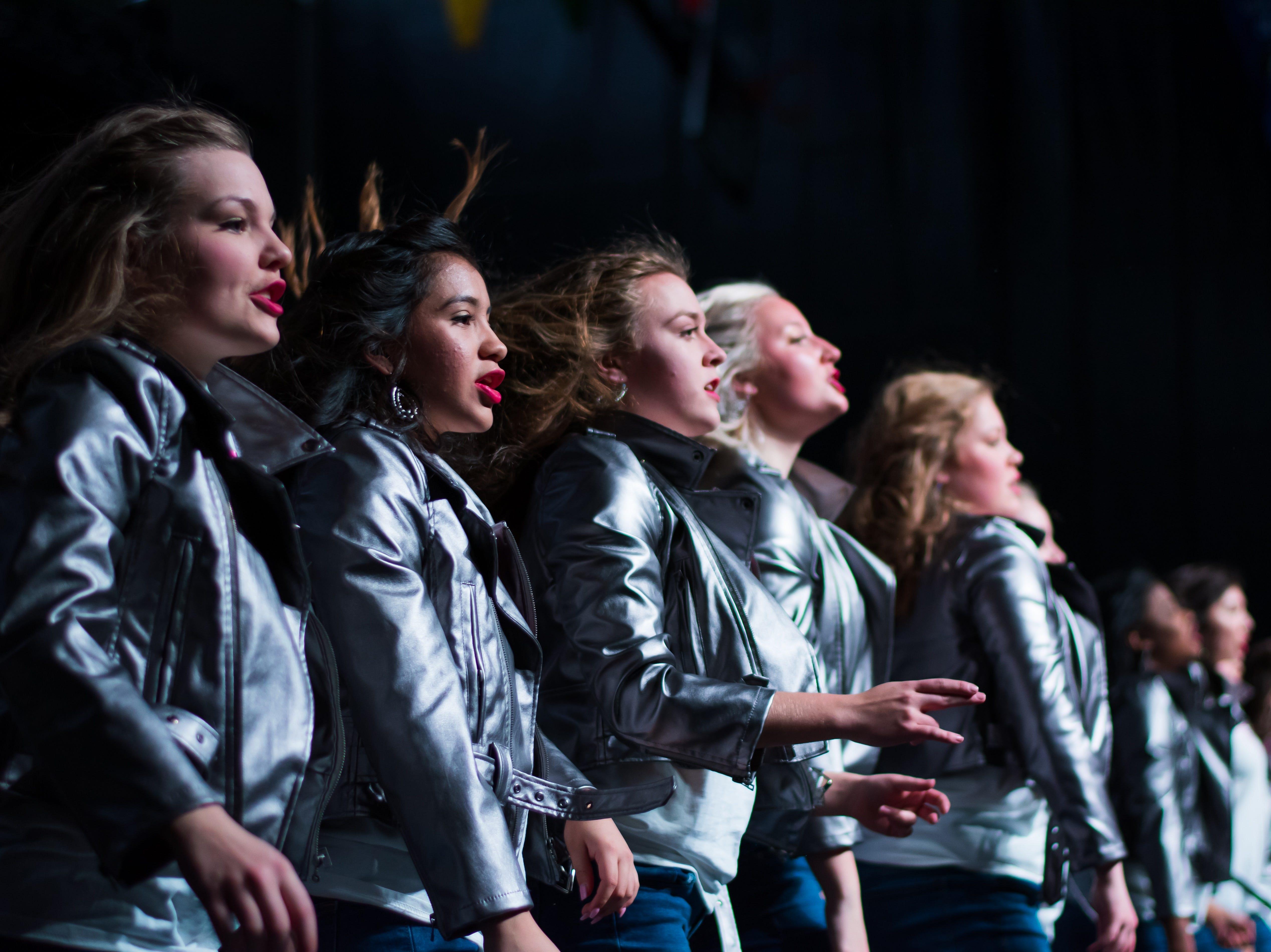 Waukee show choir group Nova performs on Saturday, Jan. 12, 2019 at the Waukee Star Struck Show Choir Invitational in the Waukee High School Field House.
