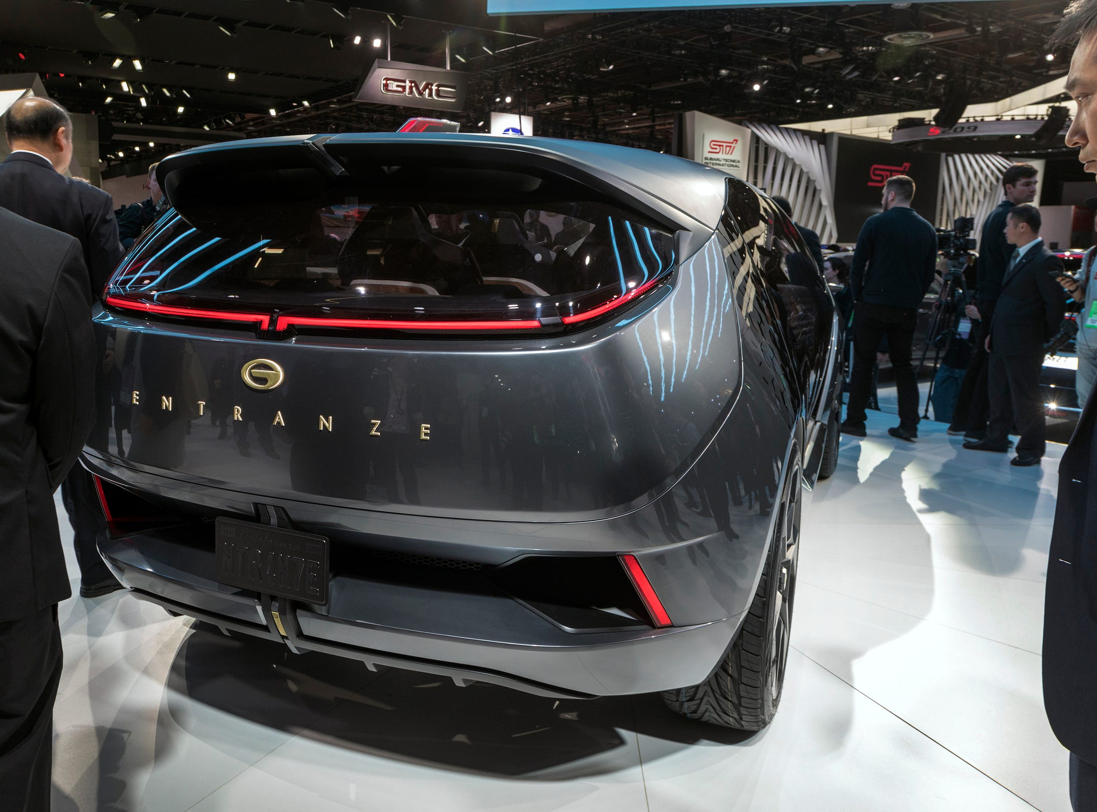 GAC Motor unveils the Entranze concept at the 2019 North American International Auto Show held at Cobo Center in downtown Detroit on Monday, Jan. 14, 2019.