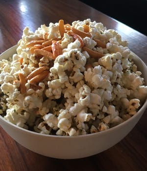 A bowl of hurricane popcorn from Bitter & Twisted in Phoenix.