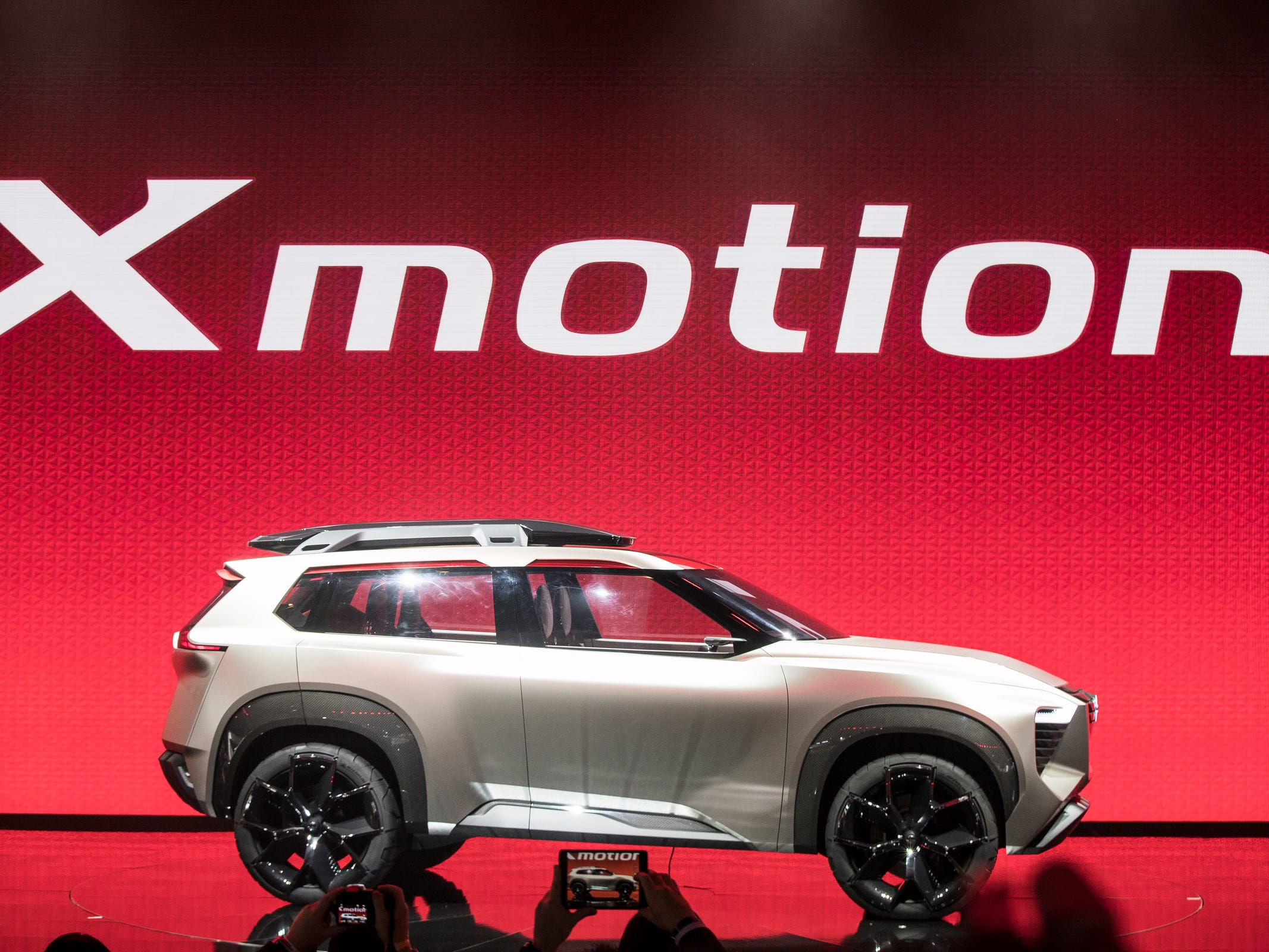 Nissan unveils the Nissan Xmotion concept SUV during the 2018 North American International Auto Show held at Cobo Center in downtown Detroit on Monday, Jan. 15, 2018.