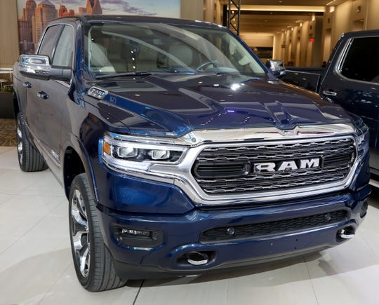 The Ram 1500 won the North American Truck of the Year at the start of the North American International Auto Show media previews at Cobo Center in Detroit on Monday, January, 14, 2019.