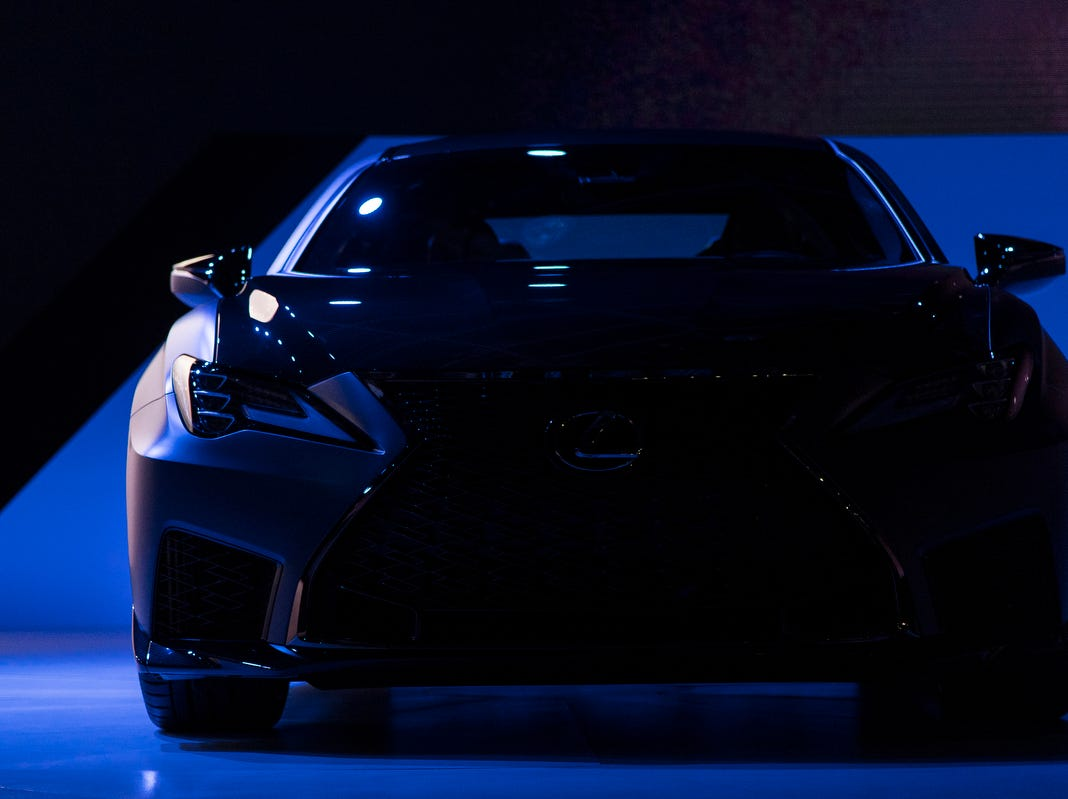 Lexus debuts the 2019 RCF Track Edition during the 2019 North American International Auto Show held at Cobo Center in downtown Detroit on Monday, Jan. 14, 2019.