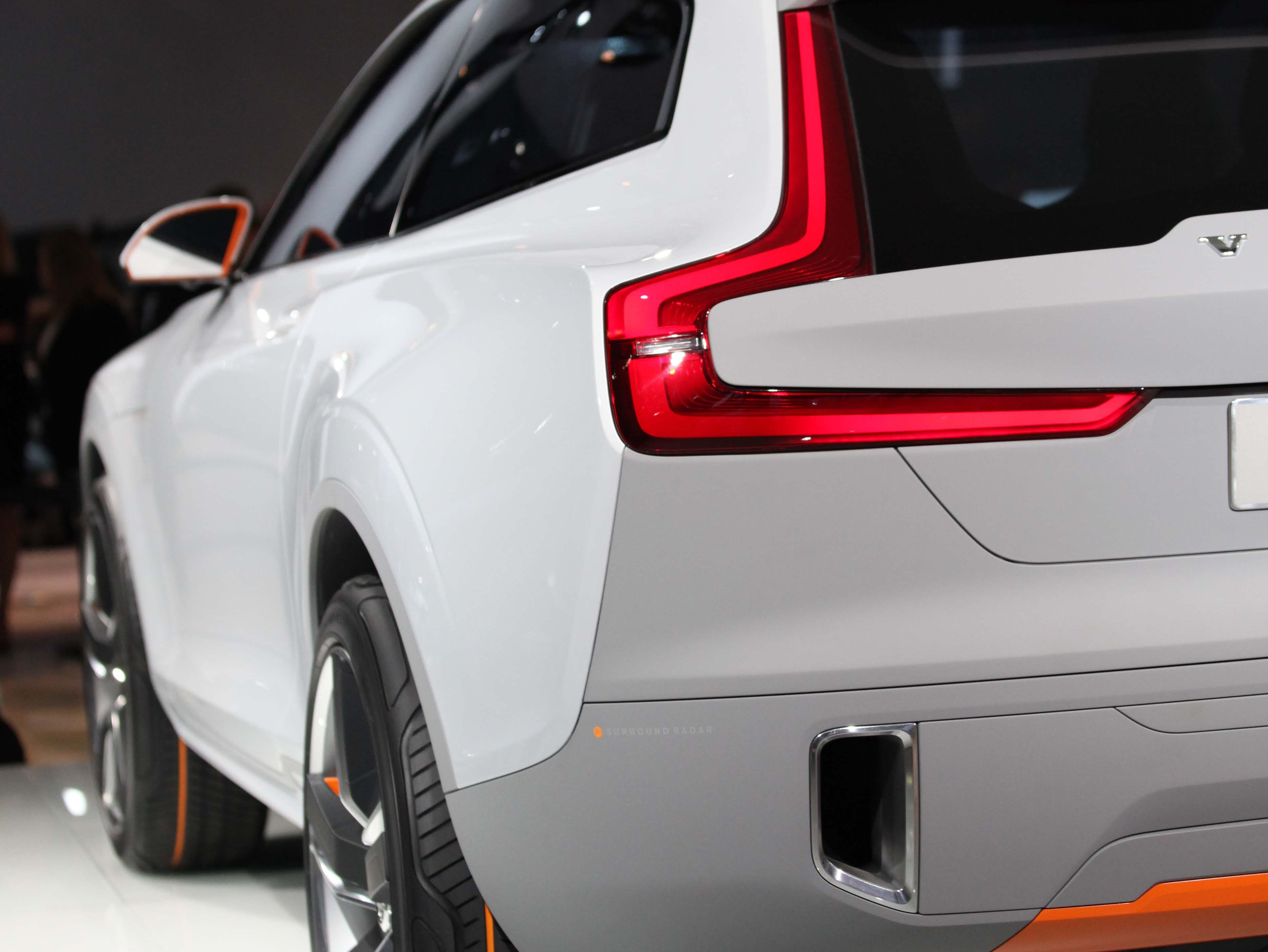 Rear view of the Volvo XC Coupe Concept revealed during the 2014 North American International Auto Show held at Cobo Center in downtown Detroit on Monday, Jan. 13, 2014.