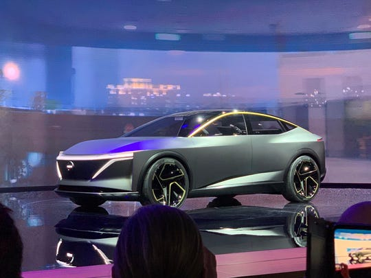 Nissan unveils the IMs concept Monday, Jan. 14, 2019, at the North American International Auto Show in Detroit.