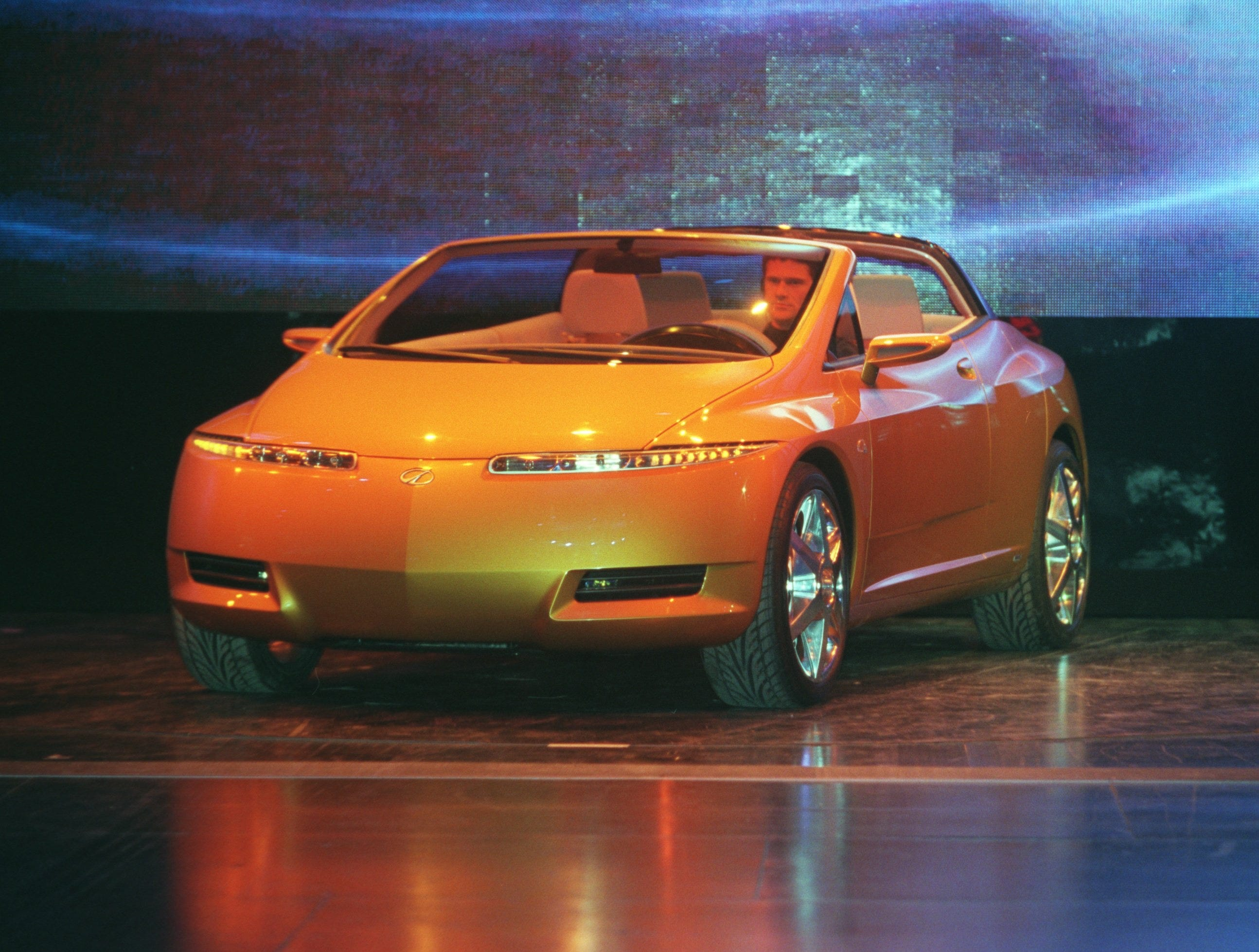 Oldsmobile's O4 concept car is was unveiled in 2001.