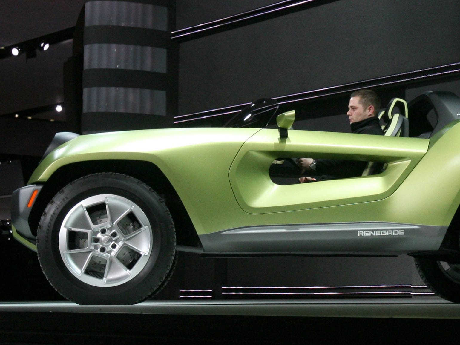 Chrysler introduces the Jeep Renegade Concept car at the North America International Auto show in Detroit Monday January 14, 2008.