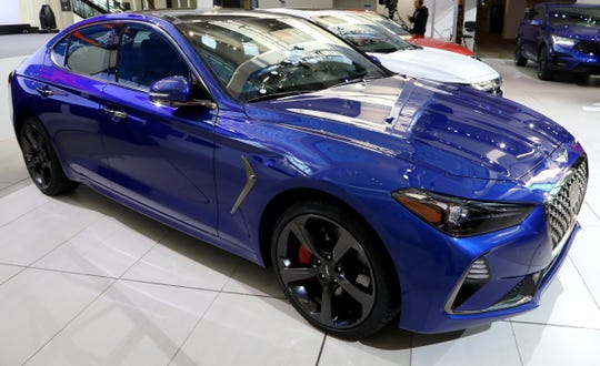 The Genesis G70 won the North American Car of the Year at the start of the North American International Auto Show media previews at Cobo Center in Detroit on Monday, January, 14, 2019.