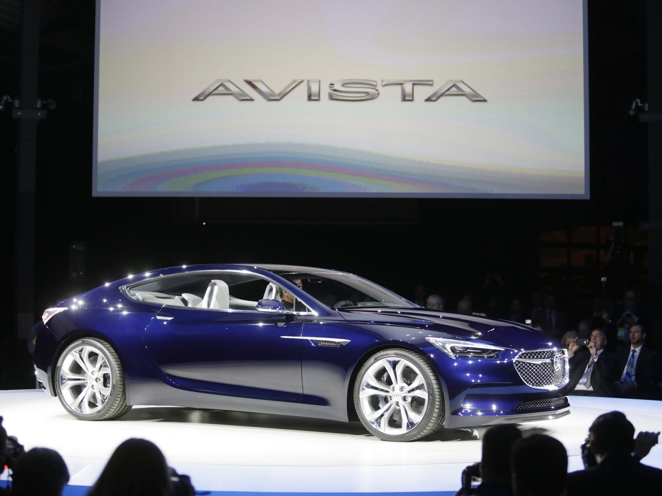 The Avista concept is revealed at the Buick display inside of shed 3 in Detroit's Eastern Market to help kick off the 2016 North American International Auto Show Sunday Jan.10, 2016.