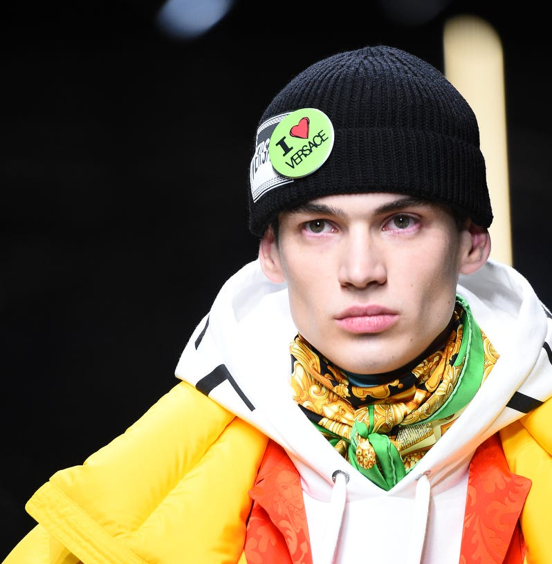 Ford Blue Oval adorns Versace men's line at Milan Fashion Week