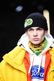 The Versace Man Fall-Winter 2019 collection partnered with Ford Motor Company in a limited edition collaboration.