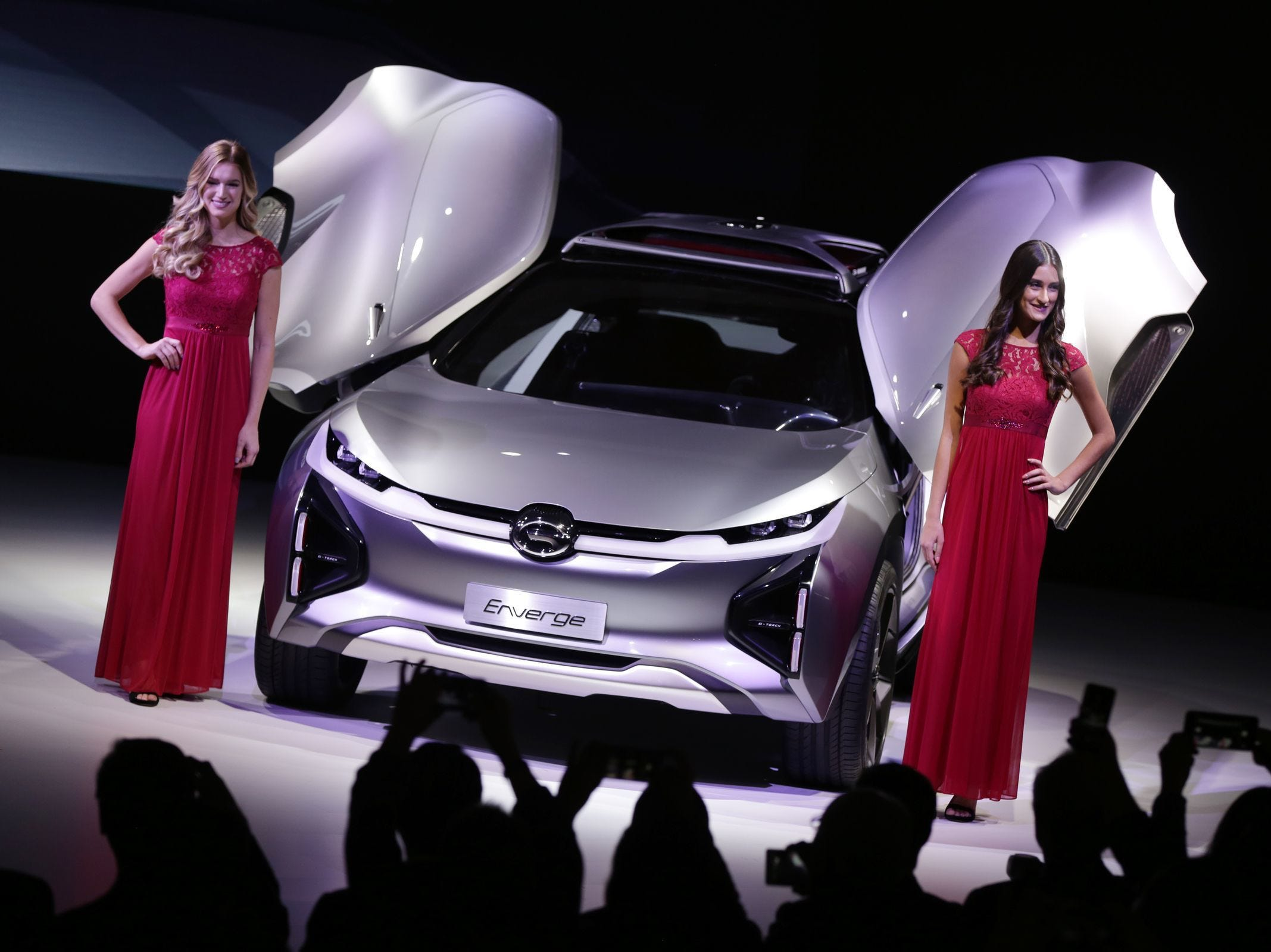 GAC Motor unveils the Enverge concept car during the North American International Auto Show at Cobo Center in Detroit on Monday, January 14, 2018.