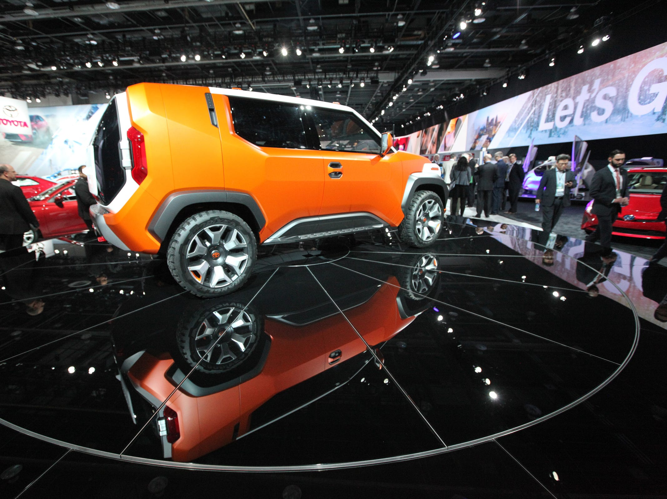 Toyota FT-4X Concept is seen on the floor during the 2018 North American International Auto Show held at Cobo Center in downtown Detroit on Tuesday, Jan. 16, 2017.