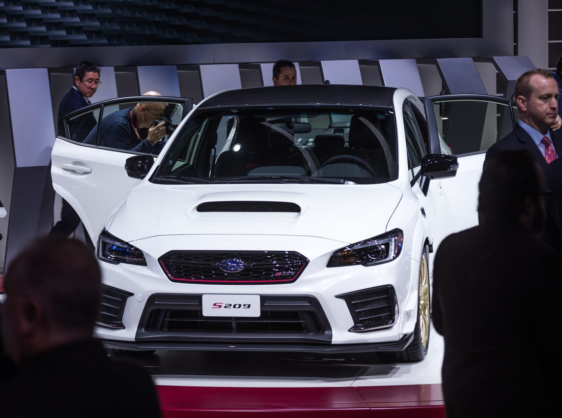 The 2020 Subaru S209 is revealed during the 2019 North American International Auto Show held at Cobo Center in downtown Detroit on Monday, Jan. 14, 2019.