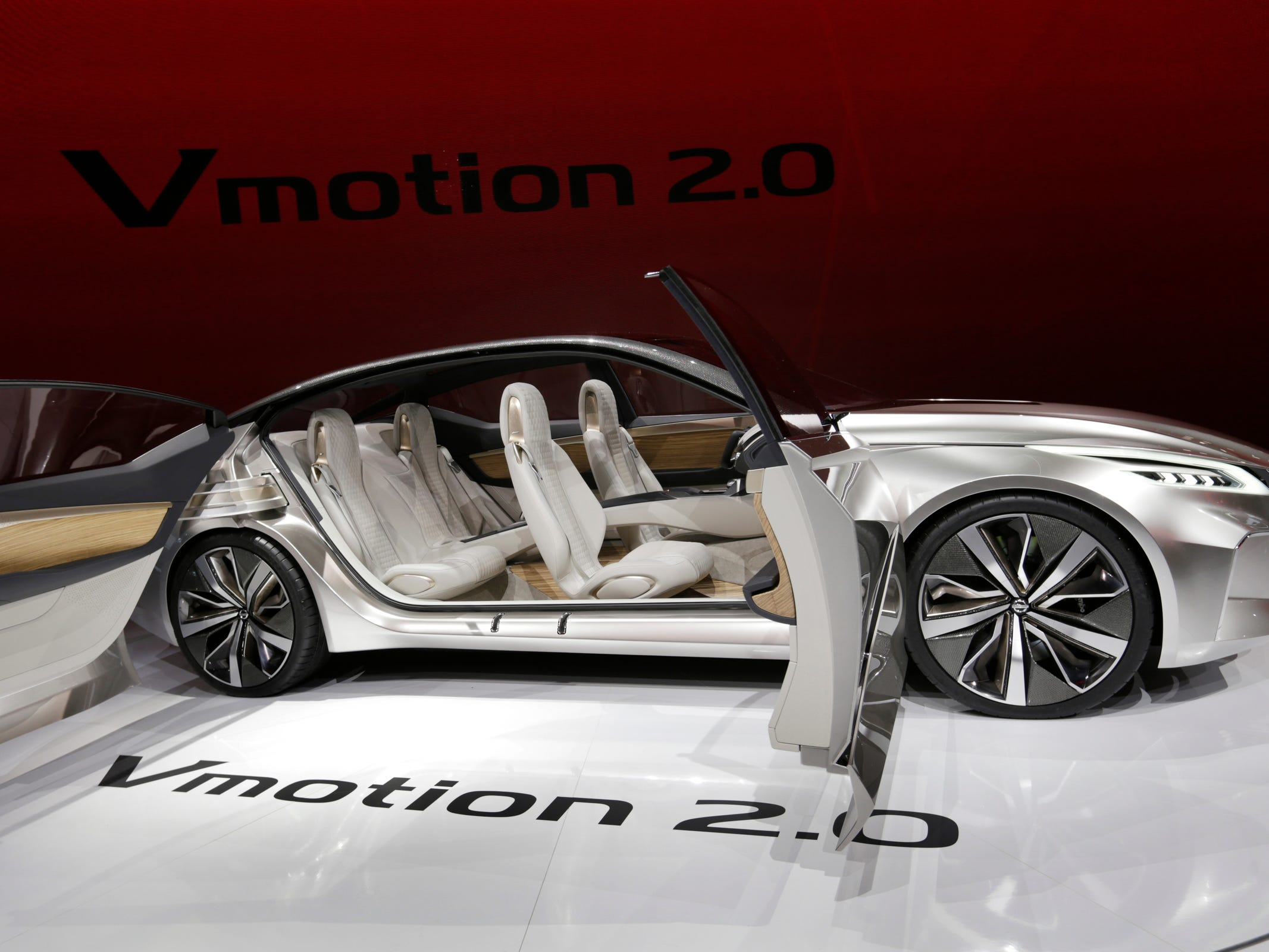 Nissan revealed the Vmotion 2.0 concept during the 2017 North American International Auto Show at Cobo Center in Detroit on Monday, Jan. 9, 2017.