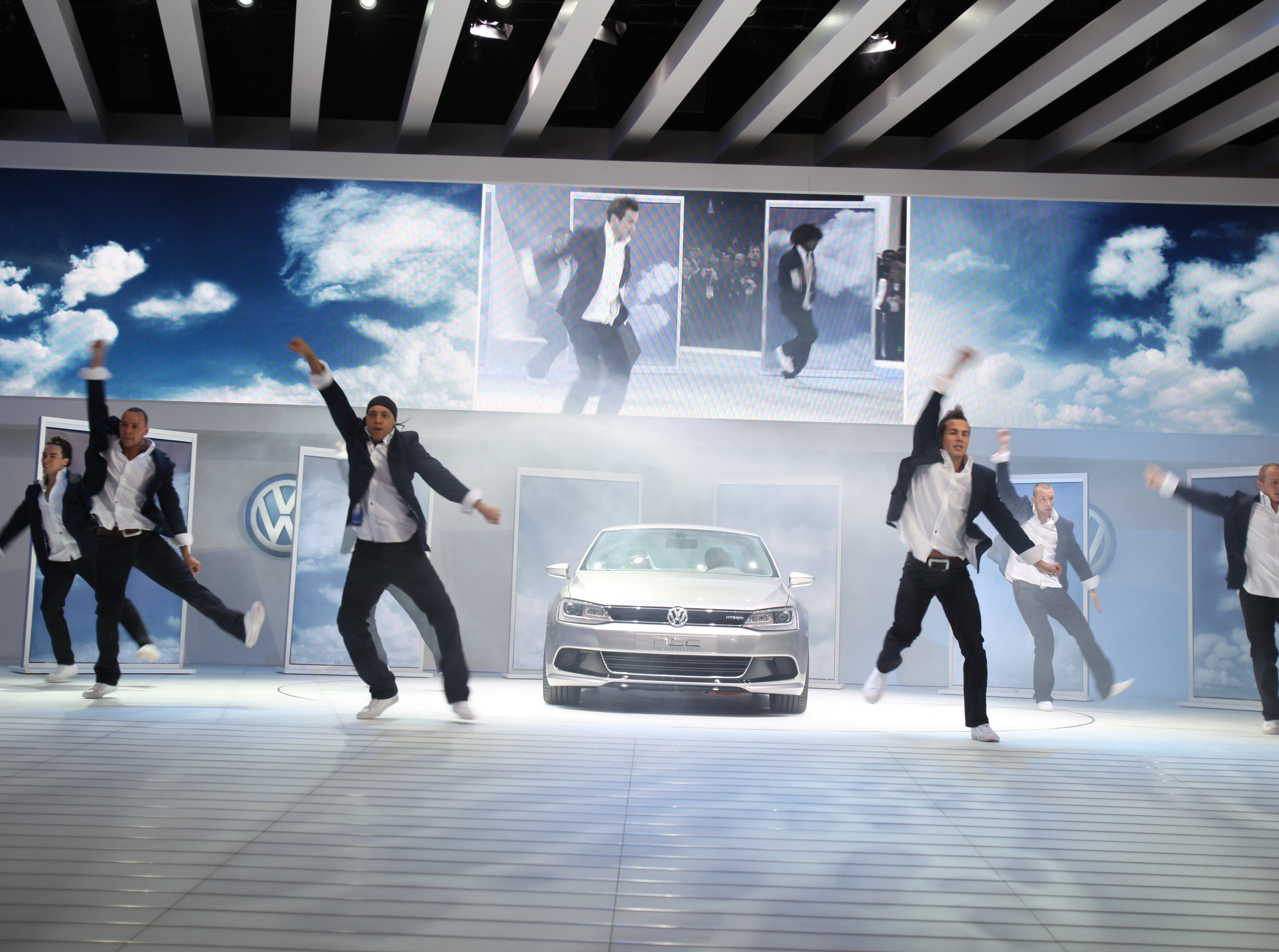 The Volkswagen hybrid concept coupe was introduced to the media at the North American International Auto Show, Monday, January 11 2010, at Cobo Hall in Detroit, MI.