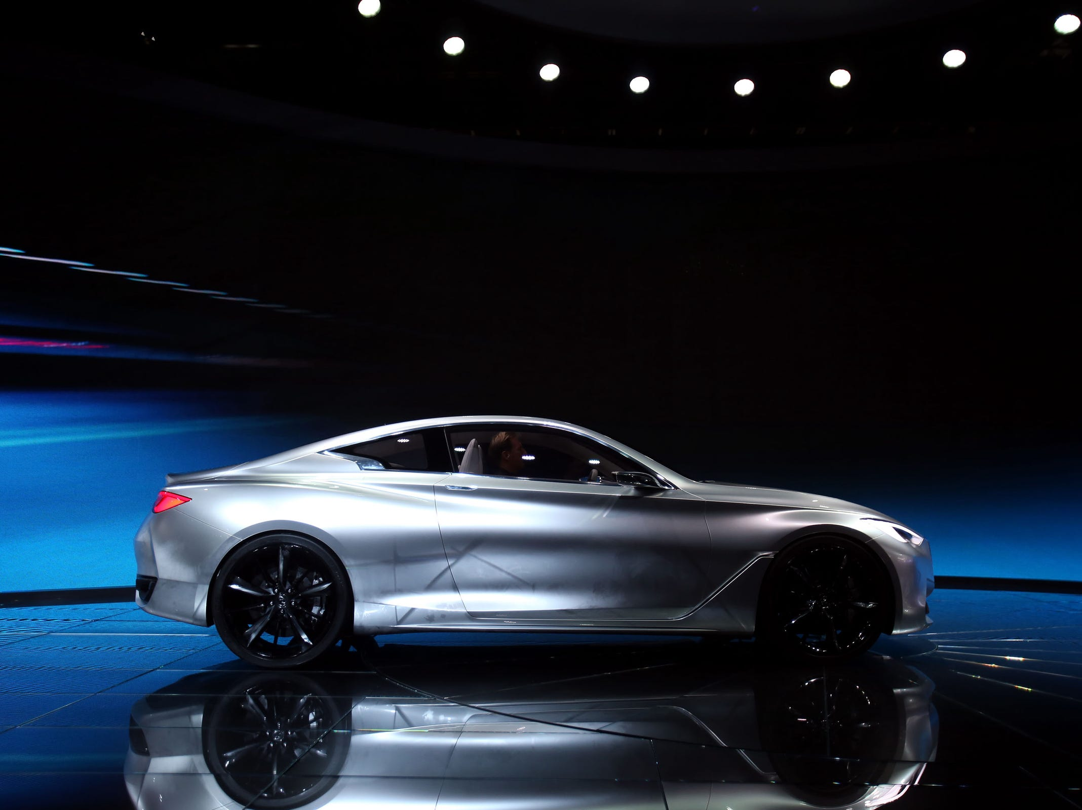 Infiniti reveals Q60 luxury coupe concept at the 2015 North American International Auto Show at Cobo Center on Tuesday, Jan.13, 2015 in Detroit.