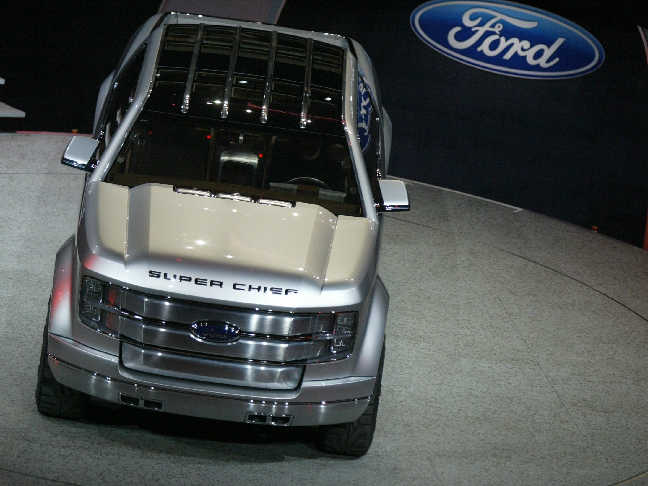 Ford introduces the  Ford F-250 Super Chief Concept at the North American International Auto Show , Sunday, January 8, 2006 at Cobo Hall in Detroit.