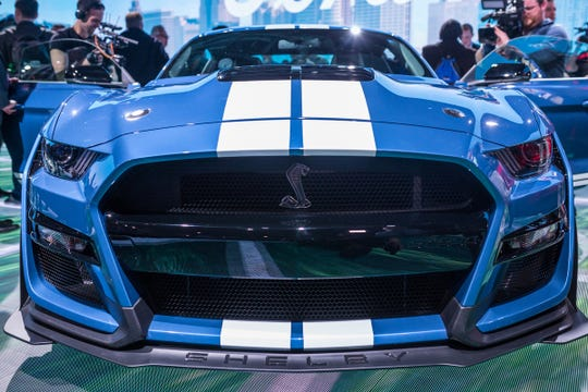 The all-new 2020 Mustang Shelby GT 500 is seen during the 2019 North American International Auto Show held at Cobo Center in downtown Detroit on Monday, Jan. 14, 2019.