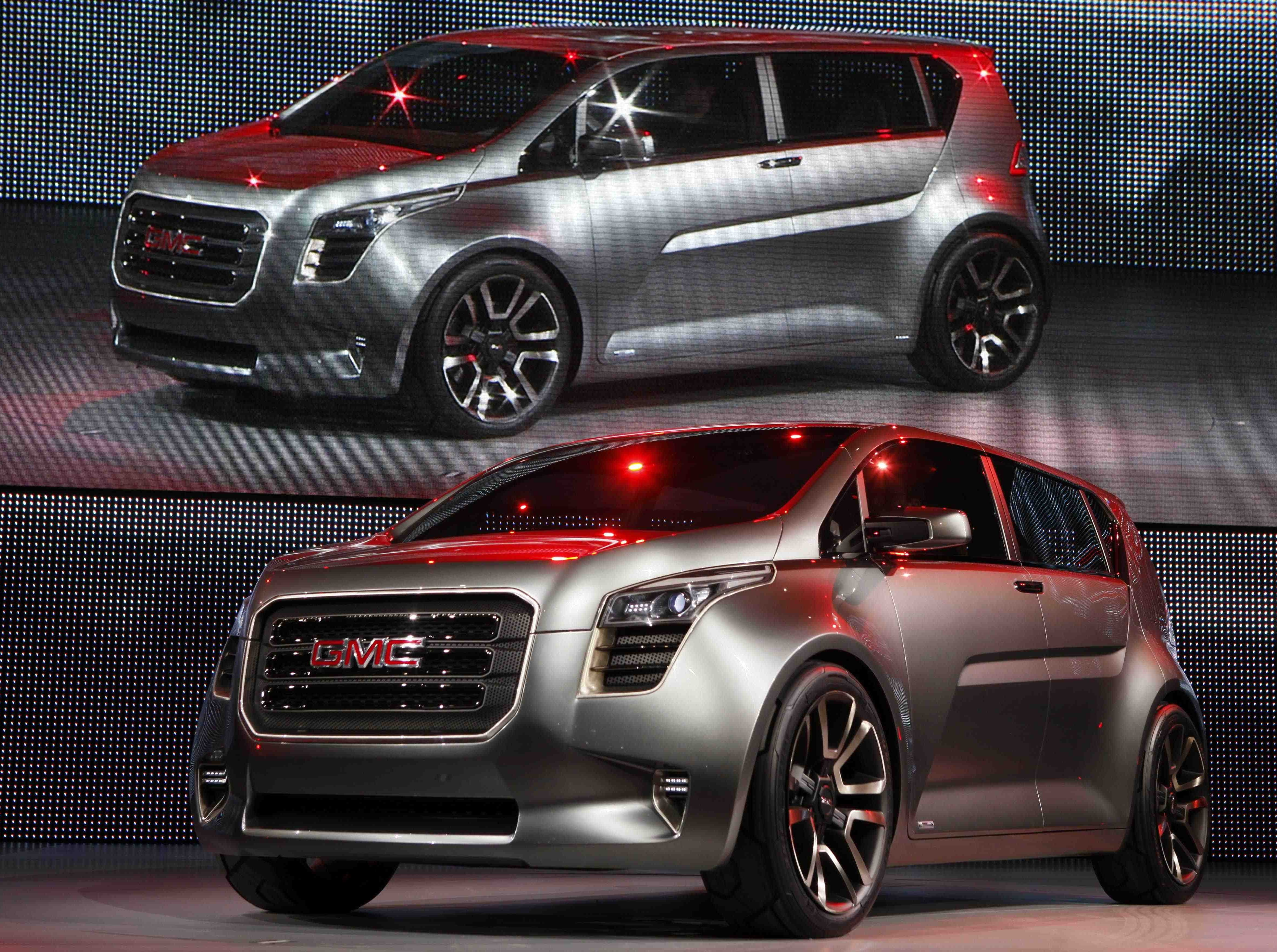 The GMC Granite concept truck is introduced at the North American International Auto Show Monday, Jan. 11, 2010, in Detroit.