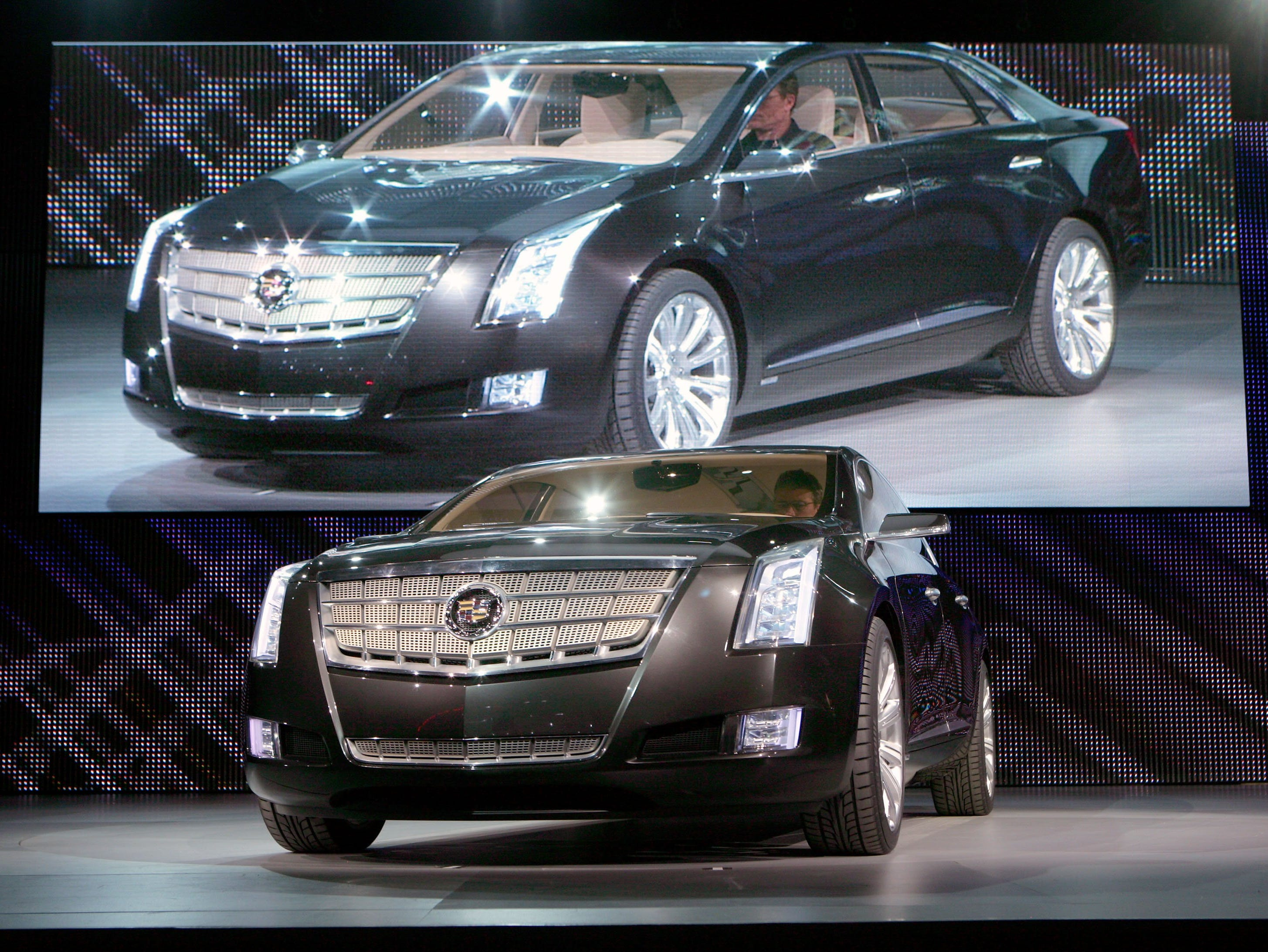 The Cadillac XTS Platinum concept is unveiled Tuesday, January 12, 2010 at the North American International Auto Show in Detroit, Michigan.