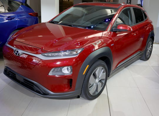 The Hyundai Kona won the North American Sport Utility of the Year during the start of the North American International Auto Show media previews at Cobo Center in Detroit on Monday, January, 14, 2019.