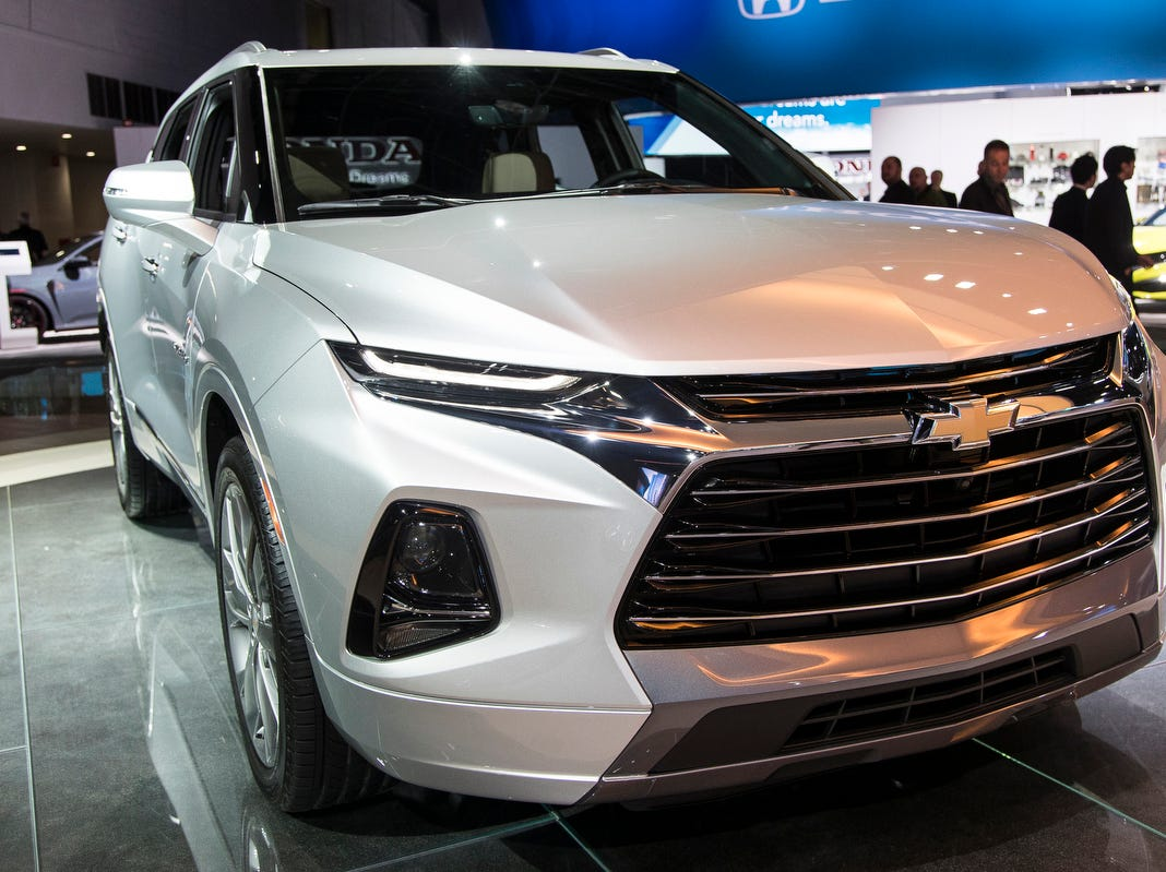 Chevrolet Blazer during the 2019 North American International Auto Show held at Cobo Center in downtown Detroit on Monday, Jan. 14, 2019.