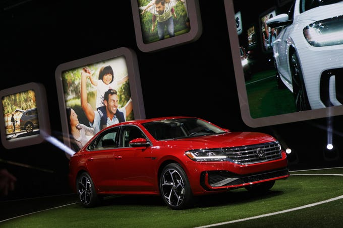The new 2020 Volkswagen Passat is revealed at the 2019 North American International Auto Show held at Cobo Center in downtown Detroit on Monday, Jan. 14, 2019.