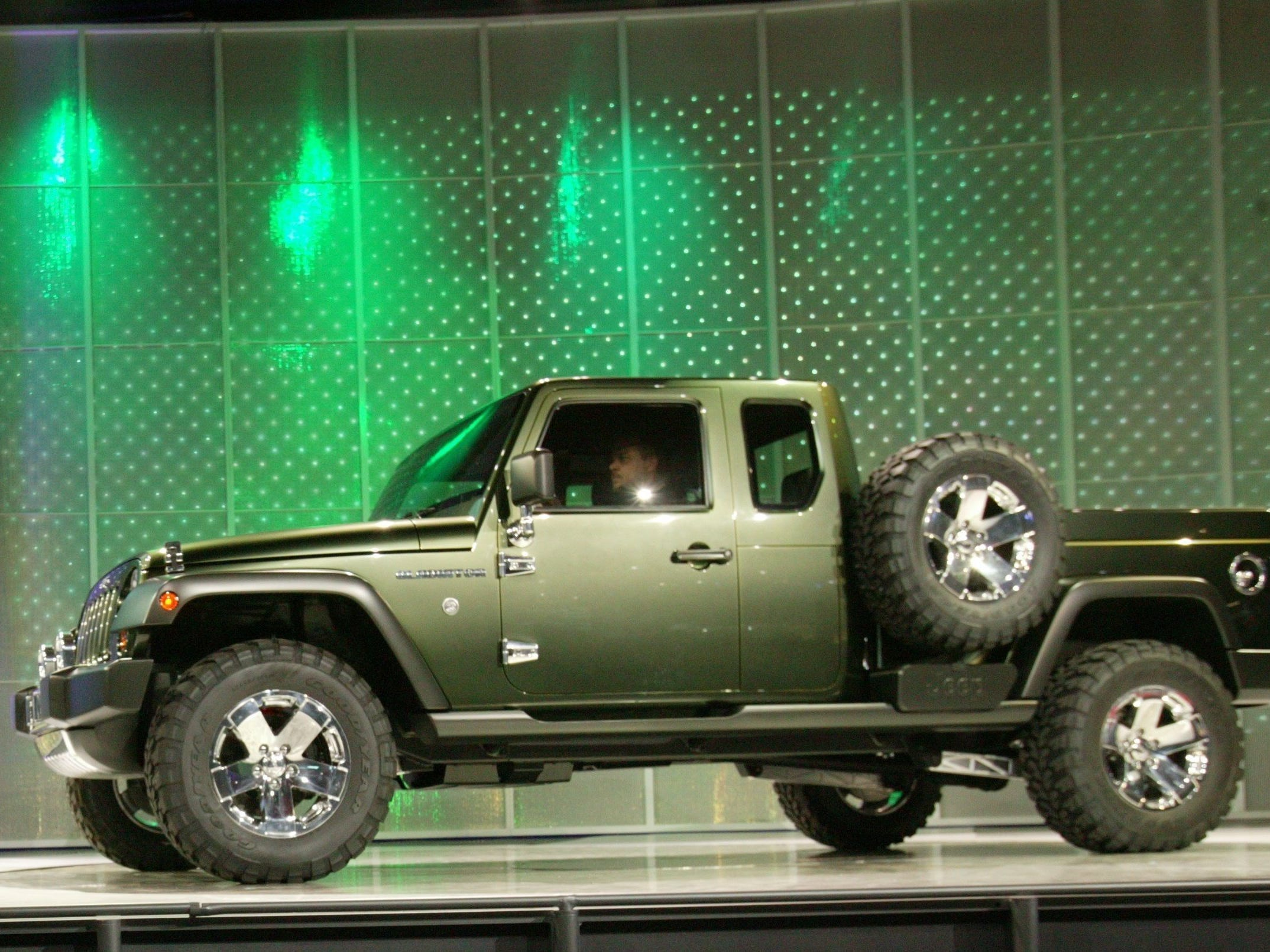Trevor Creed introduces the 2005 concept Jeep Gladiator at the 2005 North American International Auto Show at Cobo Hall in Detroit, Sunday, January 9 , 2005.