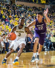 Michigan guard Zavier Simpson was 5-of-10 from 3-point range, which foiled Northwestern's plan to force him to shoot from distance.