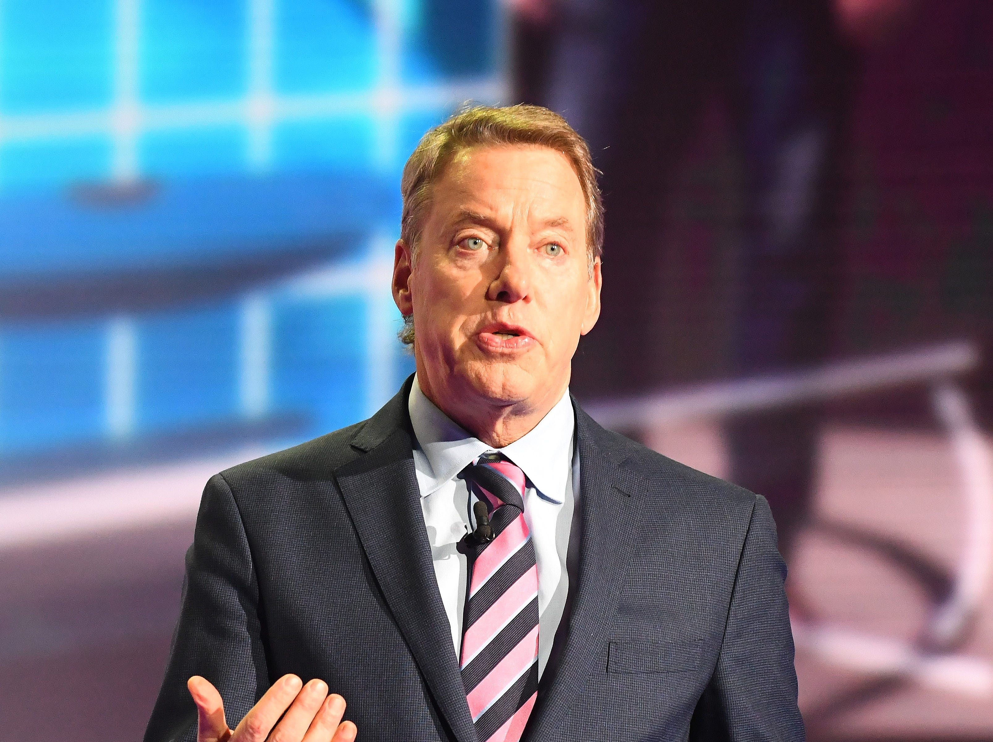 Ford Motor Company chairman Bill Ford introduces the Ford Explorer Hybrid.