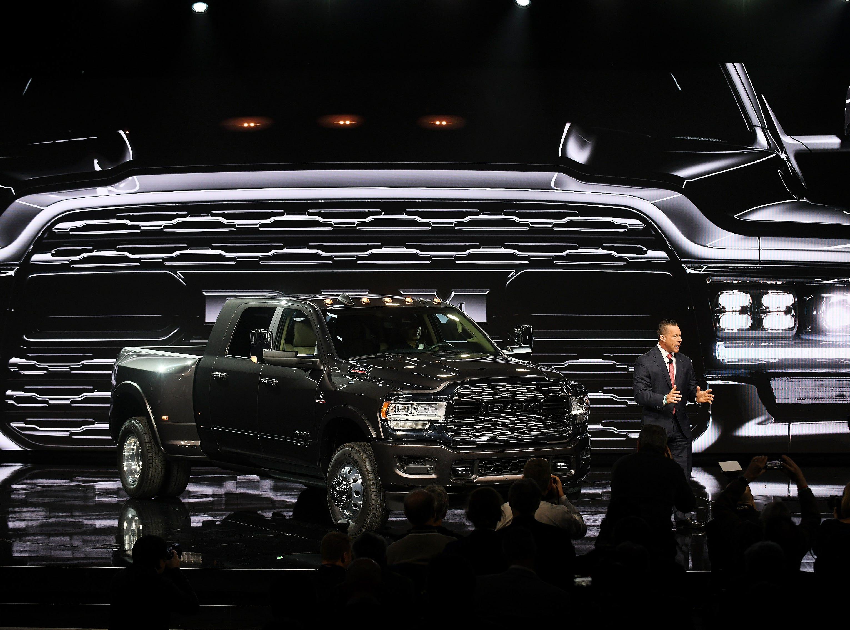 Reid Bigland, head of Ram brand, talks about the 2019 Heavy Duty 3500 pickup.