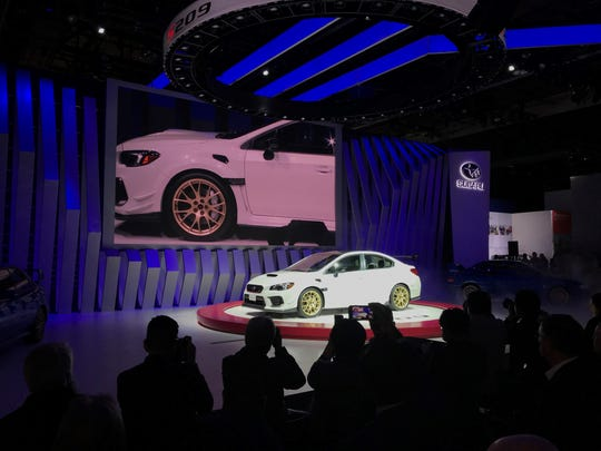 Subaru unveils Impreza STI (Subaru Tecnica International) S209 at the Detroit Auto Show Monday available for the first time in America.