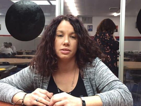 UAW member Renee Dixon, 38, from Roseville works at GM's Detroit-Hamtramck factory.