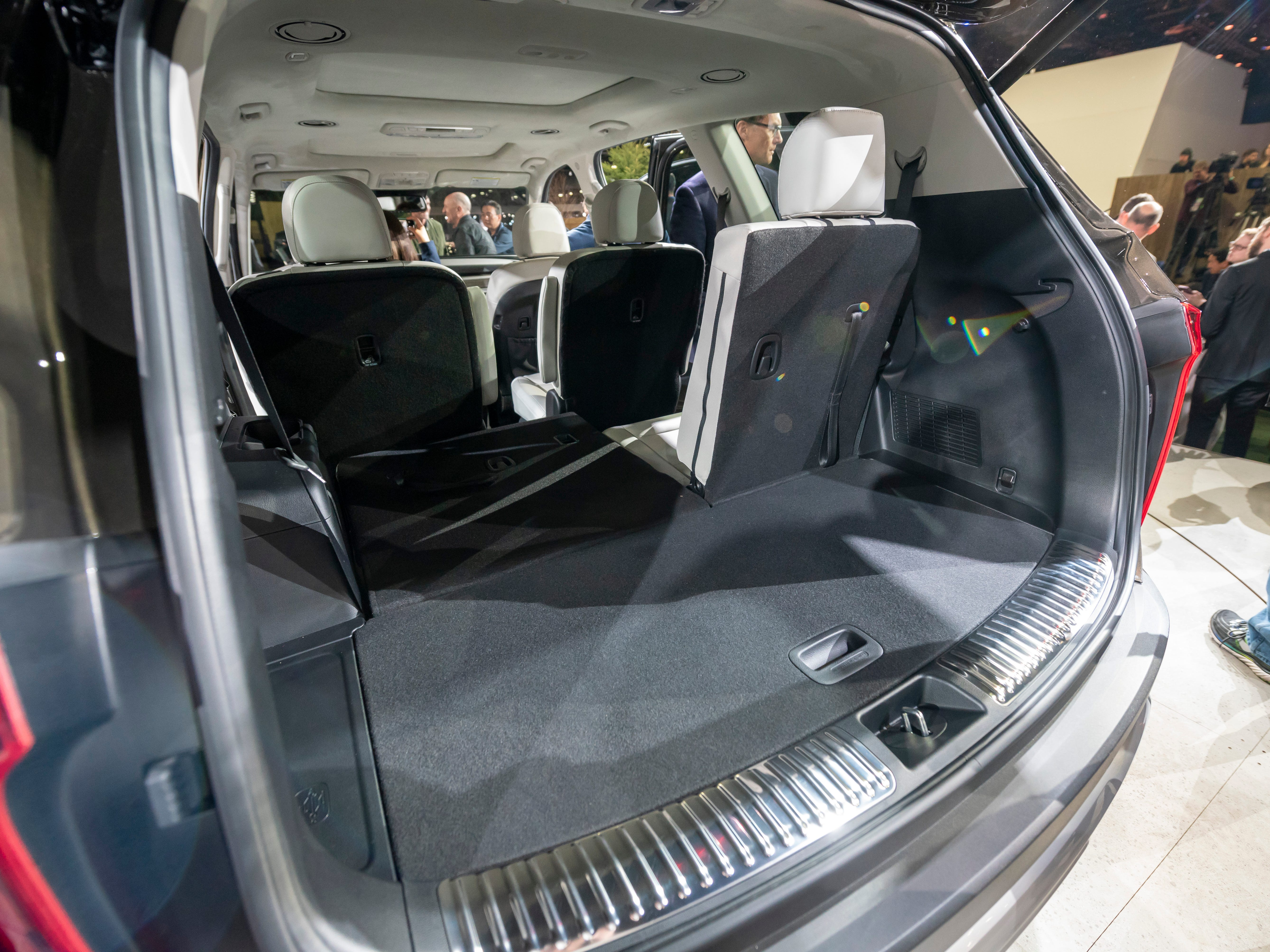 Storage space behind the third row of seats is seen in the 2020 Kia Telluride.