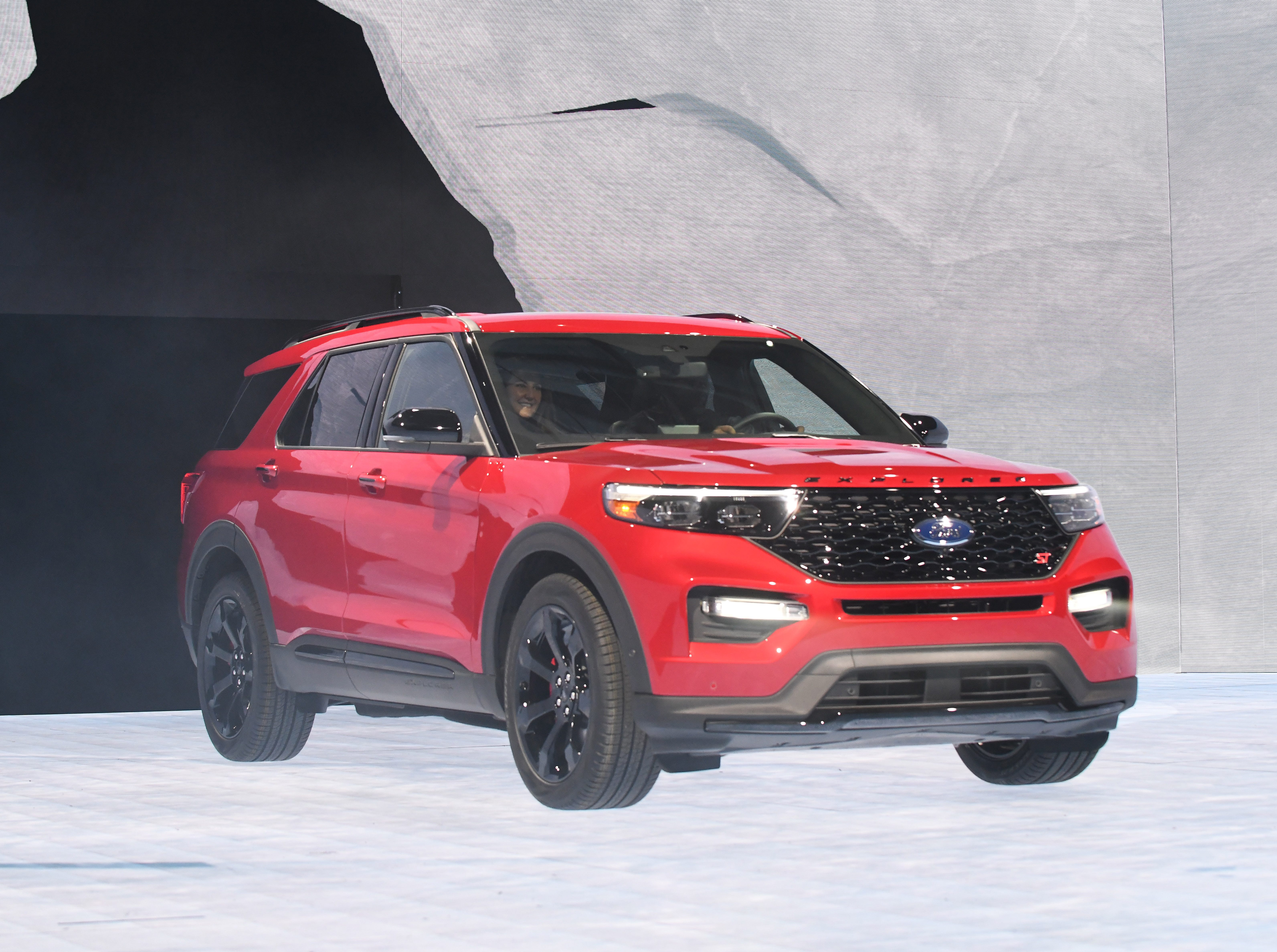Ford Explorer ST is introduced on stage at the North American International Auto Show in Detroit on Monday, Jan. 14, 2019.