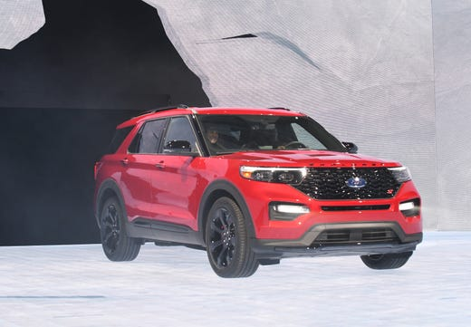 Ford Explorer St Is Introduced On Stage At The North American International Auto Show In Detroit