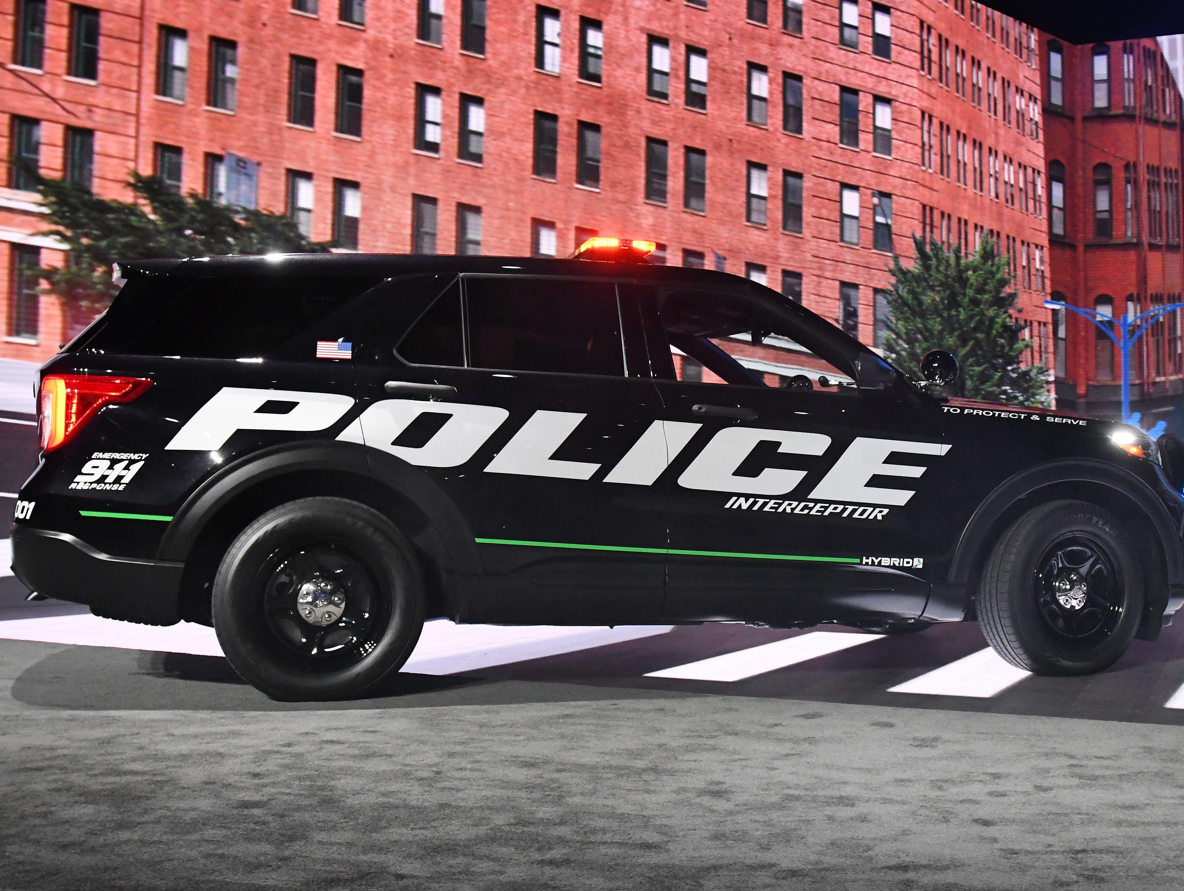 The new 2020 Ford Explorer Police Interceptor Utility hybrid.