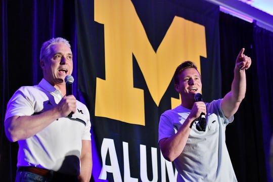Matt Shepard, left, also calls Michigan basketball games.