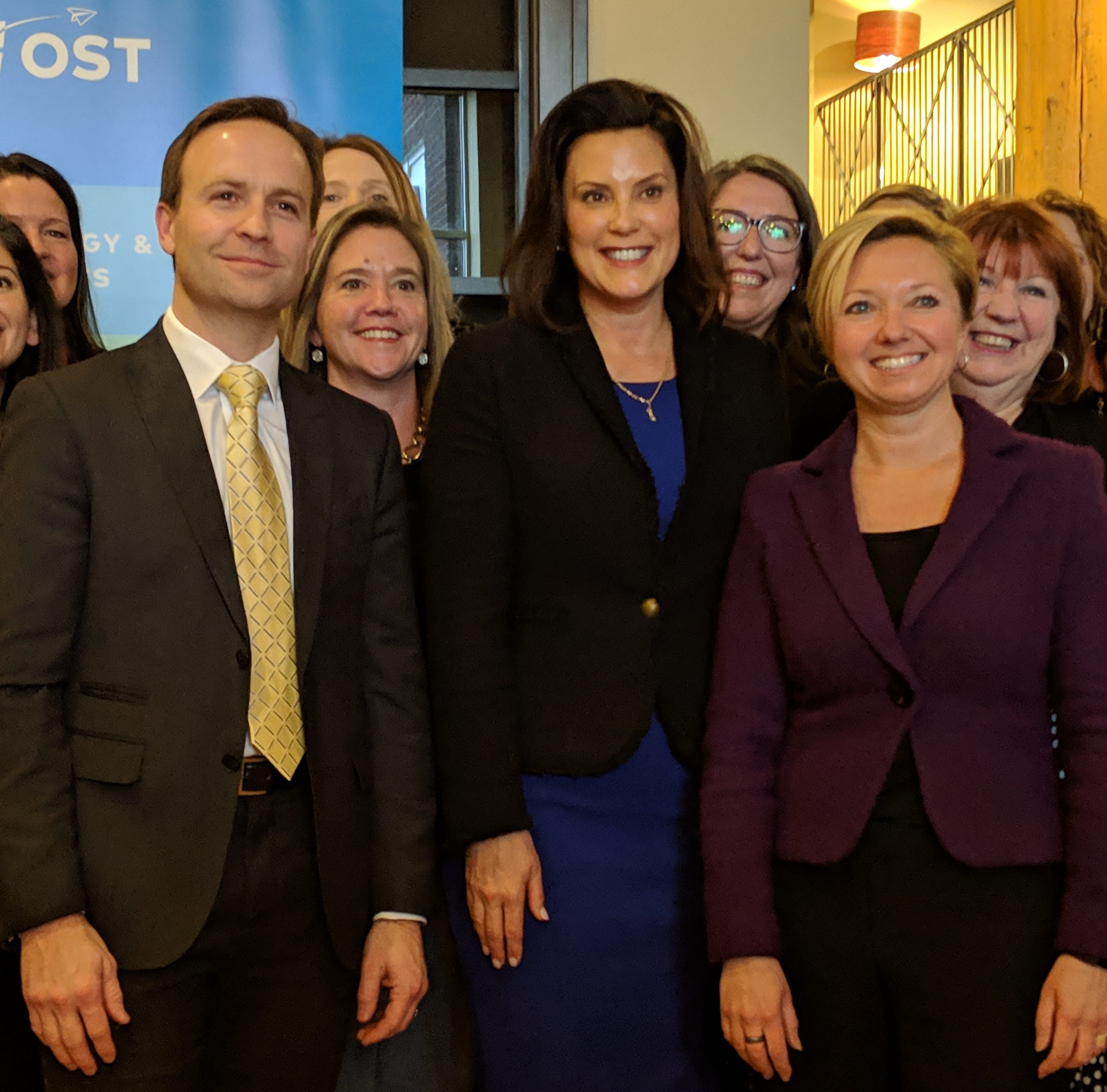 Whitmer gives Calley a ride to work