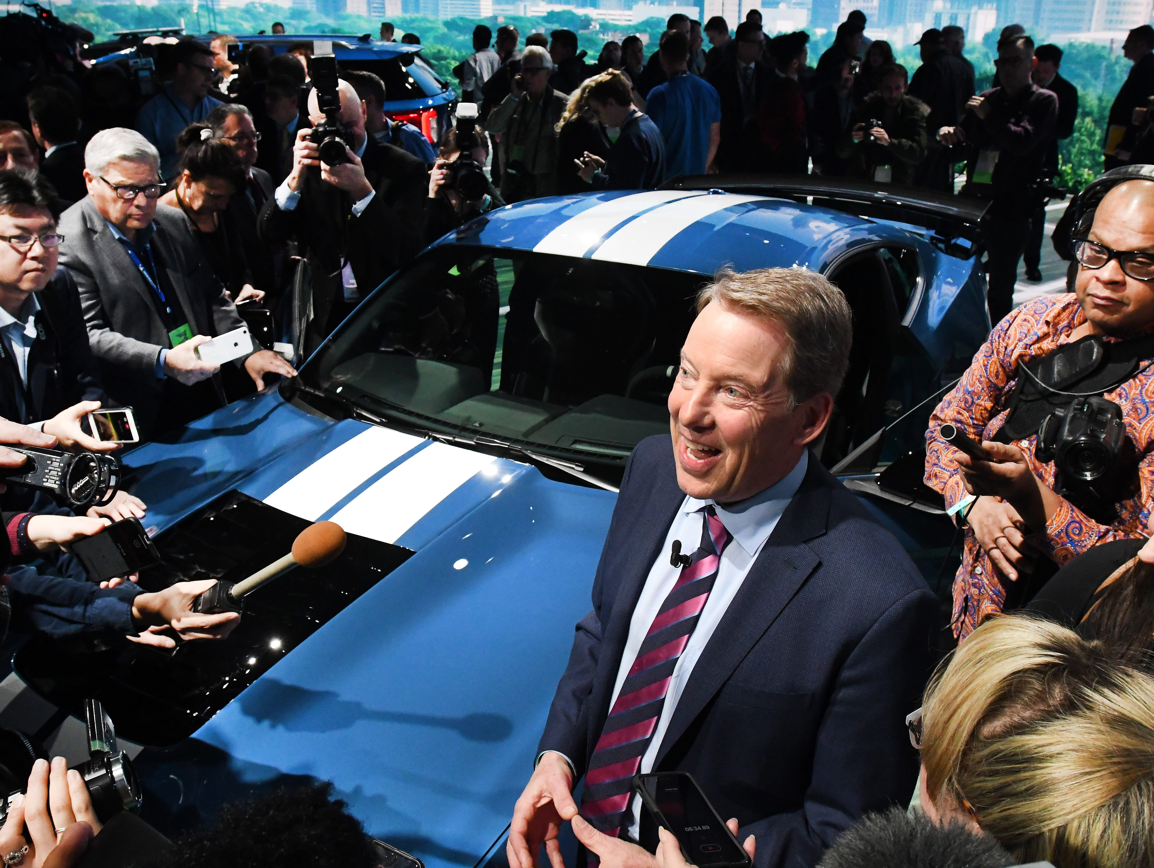 Ford Chairman Bill Ford talks about the  Mustang GT500  at the North American International Auto Show media preview.