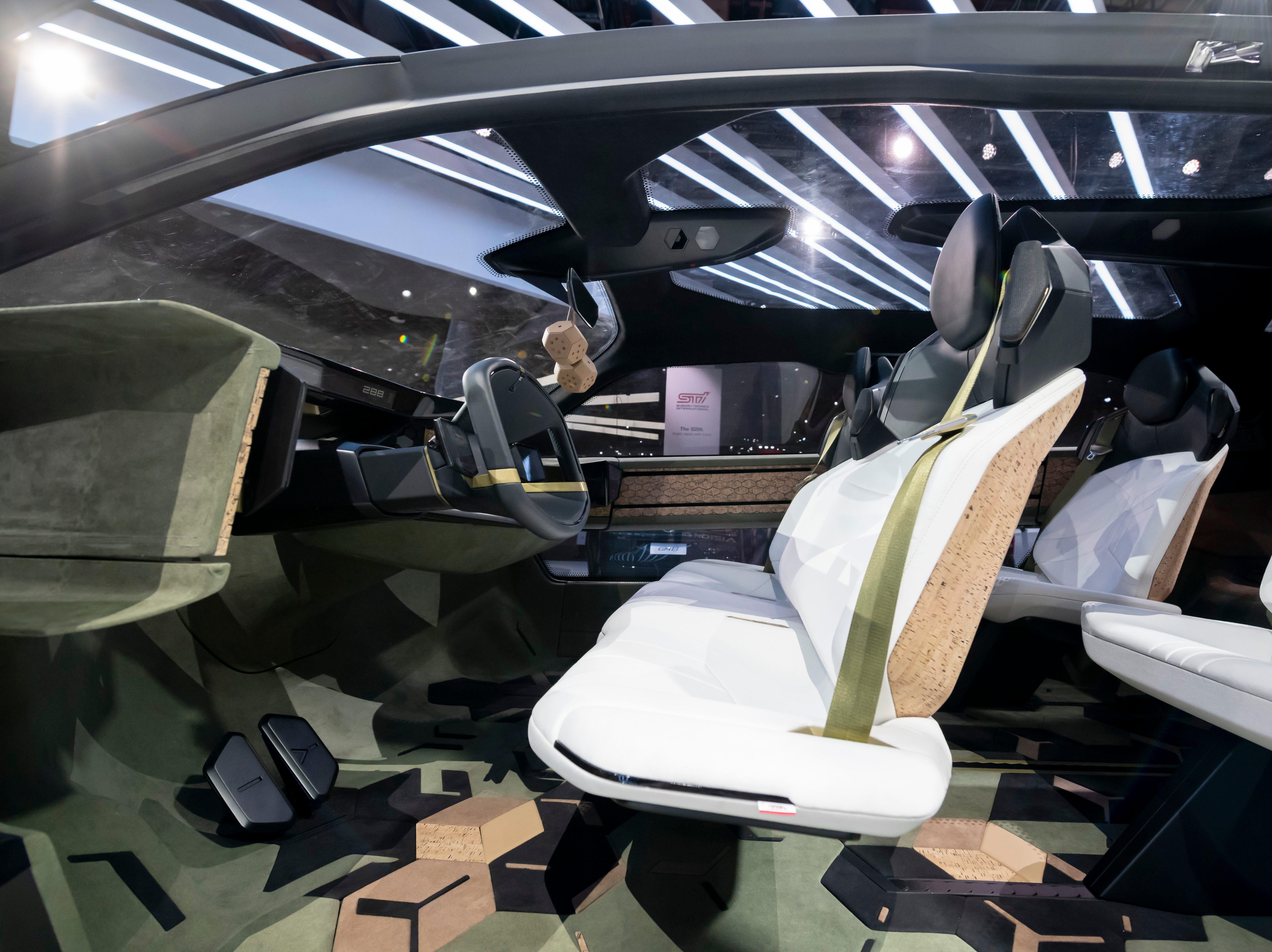 The interior of the GAC Entranze concept vehicle.