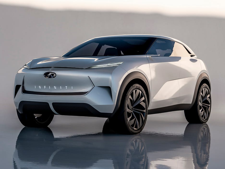 The Infiniti QX Inspiration is a midsize SUV concept previewing the brand's first fully electric vehicle.