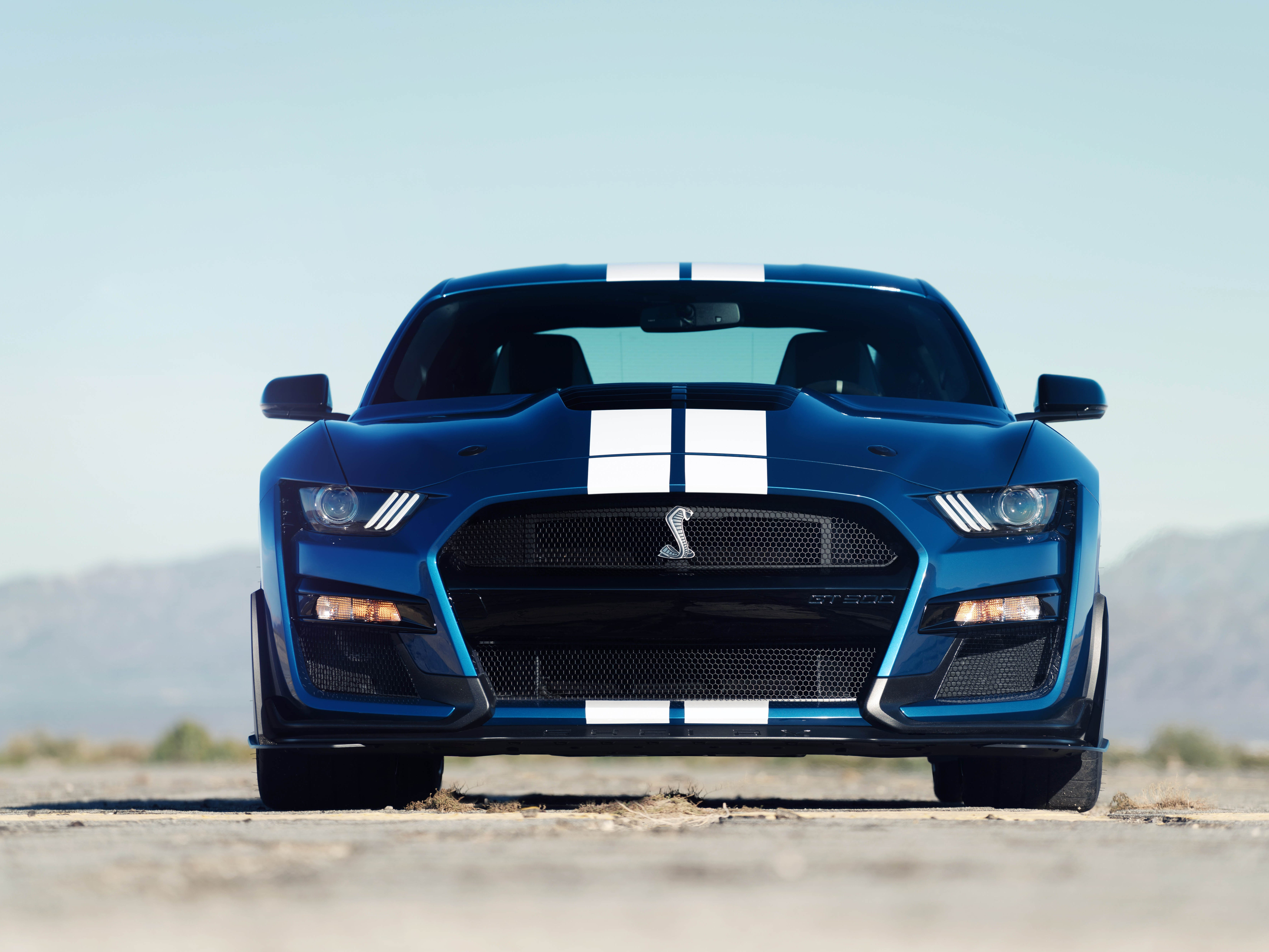 This is the front of the Mustang GT500.